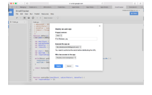Deploy Script as Web App